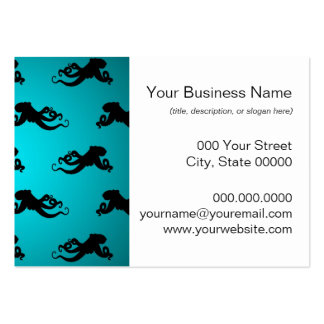 Fun Octopus Pattern on Bright Turquoise Business Card Templates