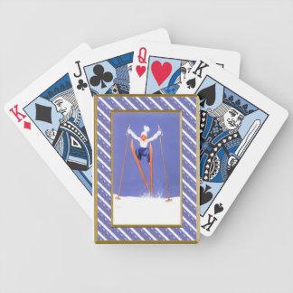Fun on skis bicycle playing cards