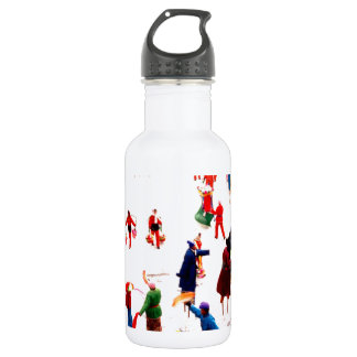 Fun on the ice, Chinese stilt dancing 532 Ml Water Bottle