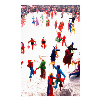 Fun on the ice Chinese stilt dancing Stationery