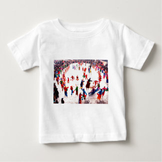 Fun on the ice, Chinese stilt walking Baby T-Shirt