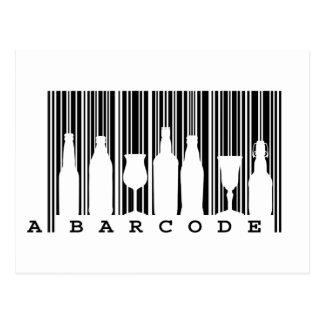 Fun original © black and white bar code (barcode), postcards