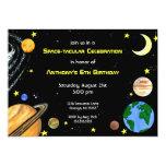 Fun Outer Space Invitation 13 Cm X 18 Cm Invitation Card