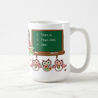 Fun Owl Design Teacher Appreciation Gift Mugs