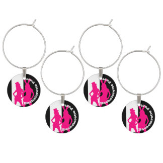 Fun party bunny girl  bachelorette party wine charms