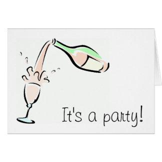 Fun Party Invitation Note Card