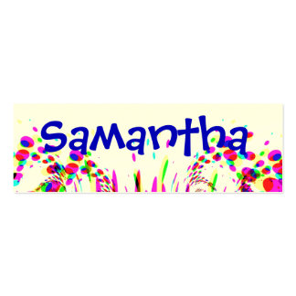 Fun Party Name Card With Colorful Confetti Pack Of Skinny Business Cards