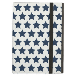 Fun Patriotic Navy Blue Stars 4th of July Pattern iPad Air Case