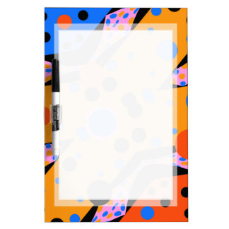 FUN PATTERN DRYERASEBOARD COLORFUL ABSTRACT DRY ERASE BOARD