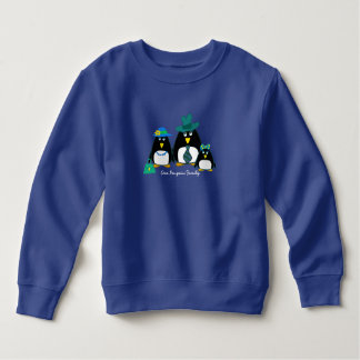Fun Penguin Family of 3 Christmas Gift Hoodie