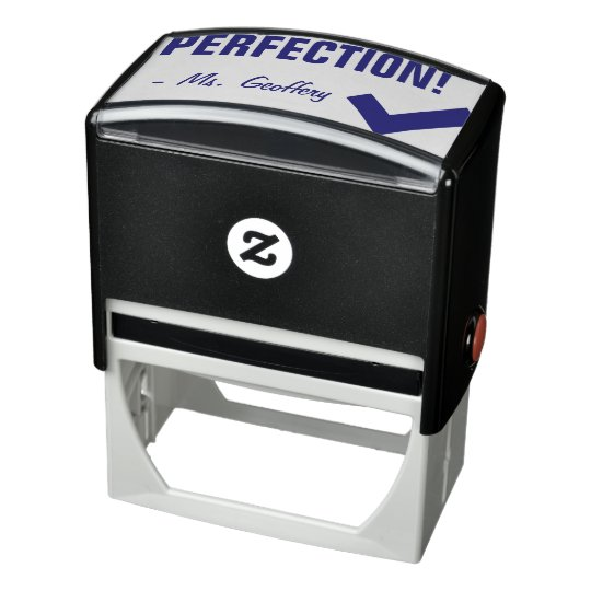 """Fun """"PERFECTION!"""" + Educator's Name Rubber Stamp"""