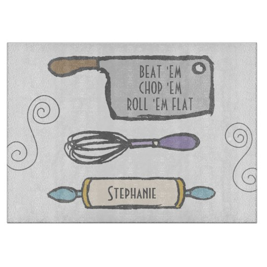 Fun Personalised Kitchen Tools Cutting Board