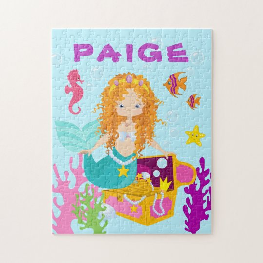 Fun Personalised Mermaid Puzzle