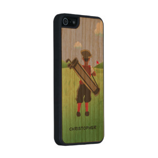 Fun Personalized Golfer on golf course iPhone 6 Plus Case