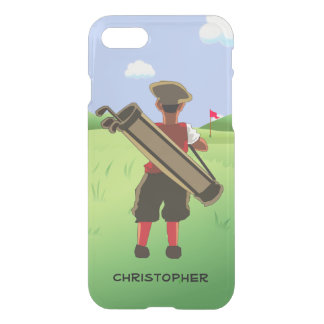 Fun Personalized Golfer on golf course iPhone 7 Case