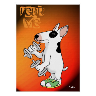 Fun personalized poster for Bull Terrier lover