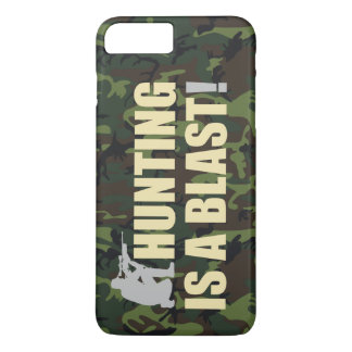 Fun phrase for all hunters: Hunting is a blast, iPhone 7 Plus Case
