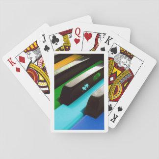 fun piano colorful playing card