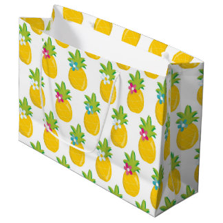 Fun Pineapple party fruit large gift bag