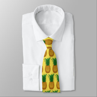 Fun Pineapple pattern tiled fruit tie