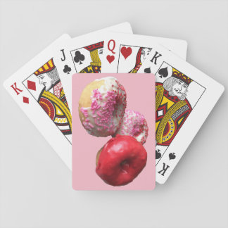 Fun Pink Donut Playing Cards