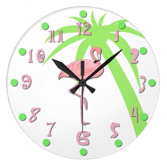 Fun Pink Flamingo Wall Clock