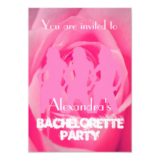 Fun pink party girls personalized bachelorette 13 cm x 18 cm invitation card