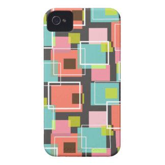 Fun Pink Retro Cubes Pattern iPhone 4 CaseMate iPhone 4 Case