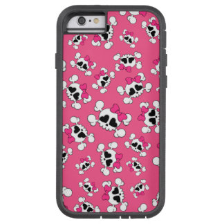 Fun pink skulls and bows tough xtreme iPhone 6 case