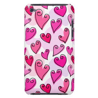 Fun Pink Valentine's hearts iPod Touch Case-Mate