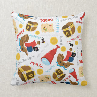 Fun Pirate pattern boys room decor pillow