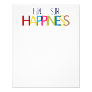 FUN PLUS SUN EQUALS HAPPINESS QUOTES TRUISMS SAYIN PERSONALIZED FLYER