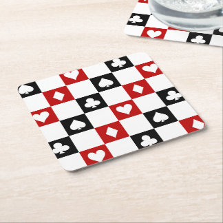 Fun Poker party suit pattern coasters