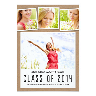 "Fun Polaroids Graduation Invitation - Craft 5"" X 7"" Invitation Card"