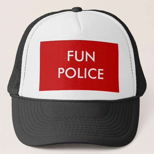 FUN POLICE TRUCKER HAT