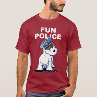 FUN POLICE Westie Dark T-Shirt