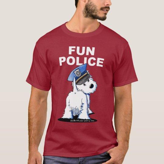 FUN POLICE Westie Dark T-Shirt