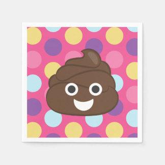 Fun Polka Dot Poop Emoji Paper Napkins
