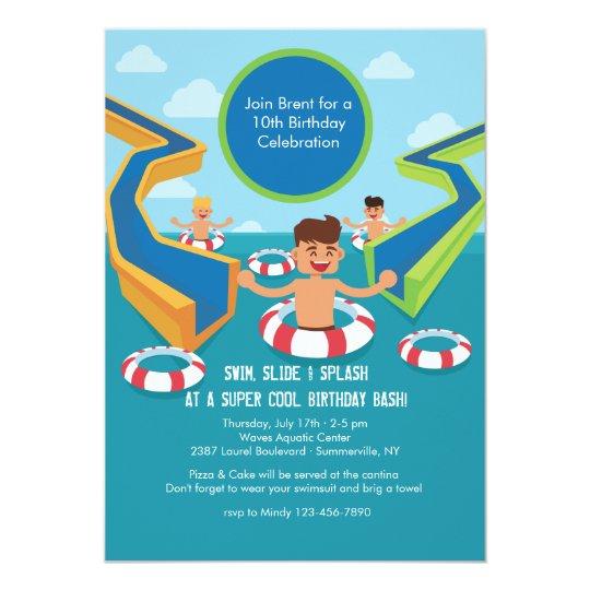 Fun Pool Party Invitation