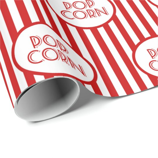 Fun popcorn word art party pattern wrap wrapping
