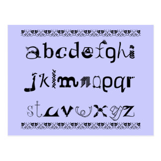 Fun Postcard of the Alphabet in English