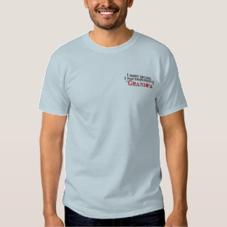 Fun Promoted  to Grandpa Embroidered T-Shirt