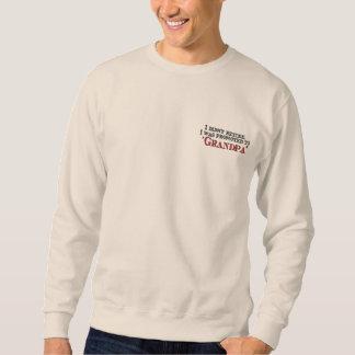 Fun Promoted to Grandpa Sweatshirt