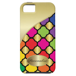 Fun Psychedelic Quatrefoil Print Pattern iPhone 5 Cases