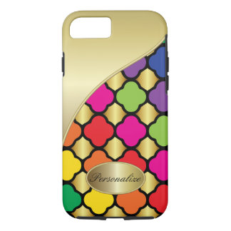 Fun Psychedelic Quatrefoil Print Pattern iPhone 7 Case
