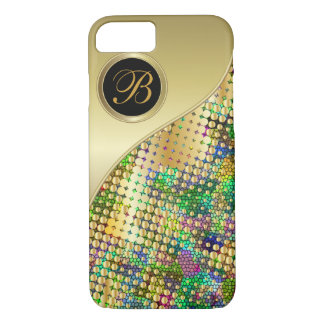Fun Psychedelic with a Splatter of Gold Dots iPhone 7 Case
