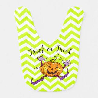 Fun Pumpkin Trick or Treat Bib