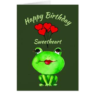 Fun Pun Birthday Frog Find you Ribbiting Card