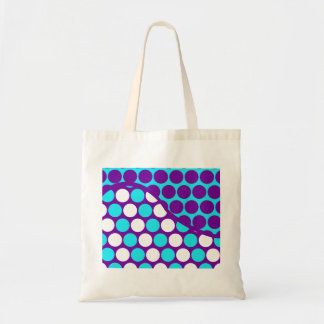 Fun Purple and Teal Polka Dot Wave Pattern Canvas Bags