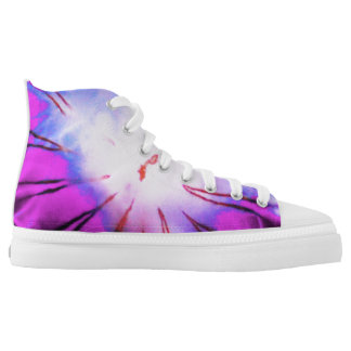 Fun Purple Blue Cool Cute Unique Novelty Jellyfish Printed Shoes